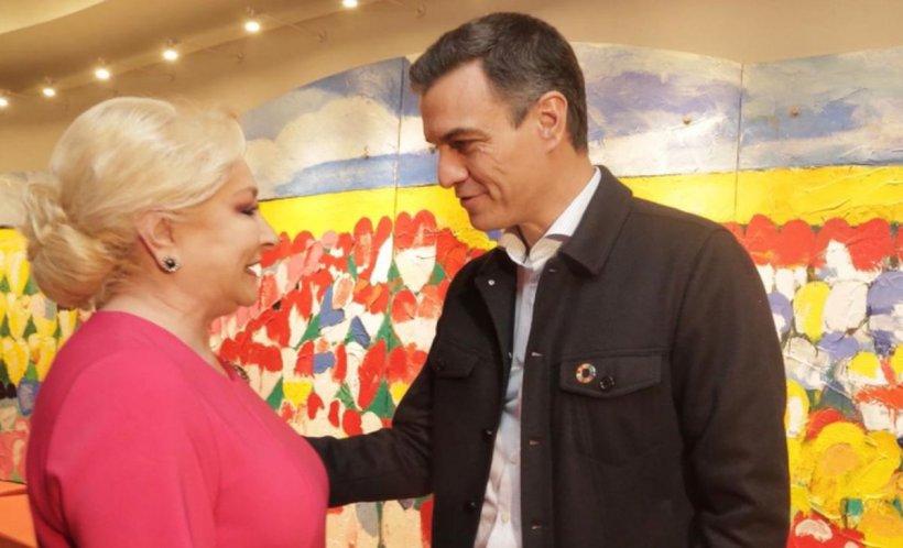 Întâlnire între Viorica Dăncilă şi premierul Spaniei, Pedro Sanchez. Ce au discutat