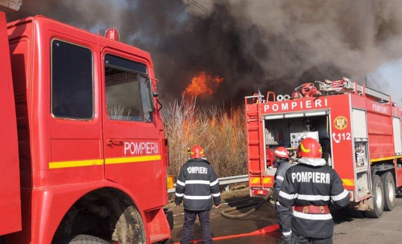 Incendiu de vegetație în Vrancea. Mai multe case au fost cuprinse de flăcări