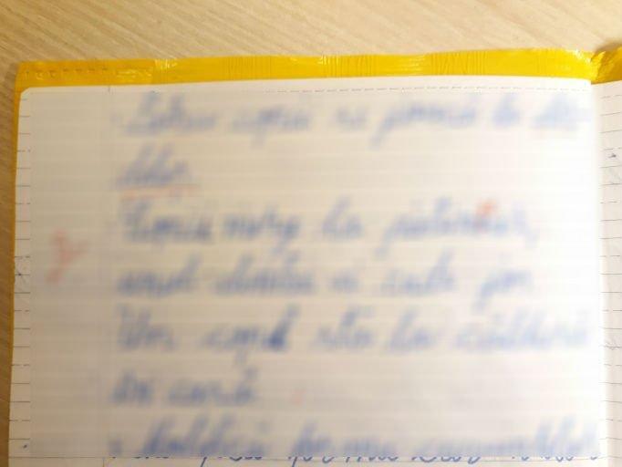 """Tatăl elevului din Iași, care a fost corectat de învățător deși scrisese corect cuvântul """"patinoar"""": """"A zis că elevul a scris greșit și că el a corectat bine"""""""