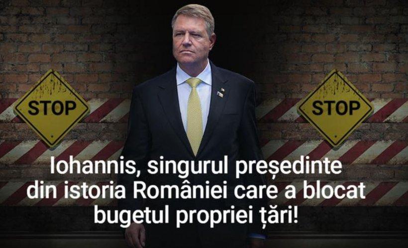Reacția PSD la respingerea bugetului de către președintele Iohannis