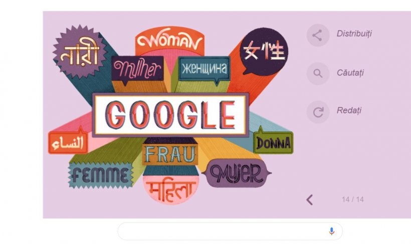 8 Martie. Google, surpriză de Ziua Internațională a Femeii. Doodle special, dedicat tuturor doamnelor și domnișoarelor