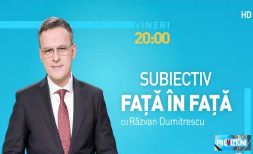 """O nouă emisiune la Antena 3. """"Subiectiv față în față"""", vineri de la ora 20.00 cu Răzvan Dumitrescu 16"""
