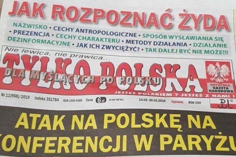 Un ziar polonez a publicat pe prima pagină un articol în care explică cititorilor cum să recunoască un evreu
