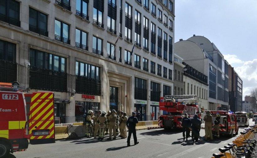 Alertă cu bombă la Bruxelles, lângă Ambasada Marii Britanii. Zona a fost evacuată - FOTO