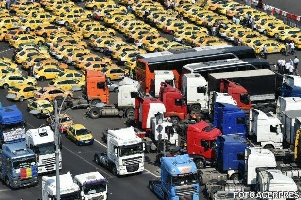 Protestul transportatorilor s-a încheiat. Activitatea Uber și Bolt ar putea fi blocată