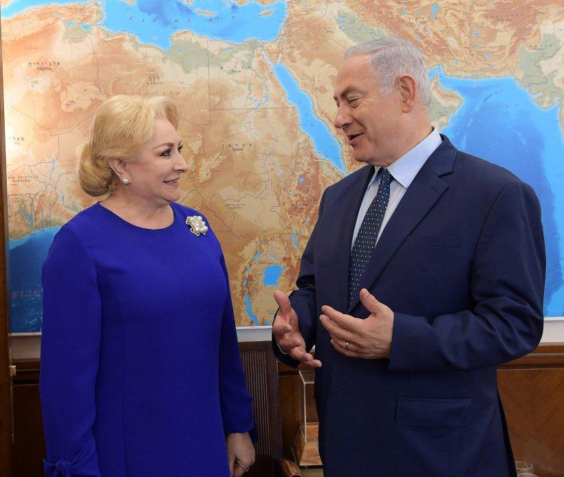 Premierul israelian Benyamin Netanyahu: O felicit pe prietena mea, Viorica Dăncilă, pentru decizia mutării ambasadei la Ierusalim