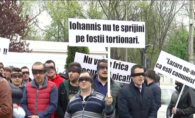 Protest anti-Lazăr la Palatul Cotroceni