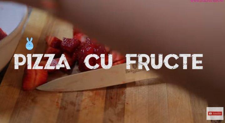 REȚETE DE PAȘTE 2019. Pizza cu fructe și mascarpone, preparată de Ela Crăciun