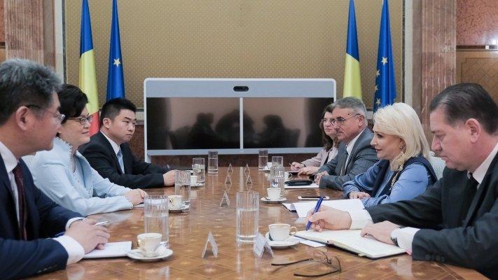 Premierul Viorica Dăncilă, întâlnire cu ambasadorul Chinei: România este interesată de creșterea schimburilor comerciale