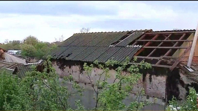 Imaginile dezastrului din urma tornadei care a lovit localitatea Dragalina - VIDEO