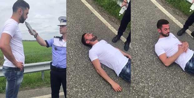 Polițiștii au oprit un șofer care circula peste limita legală pe autostrada București-Ploiești. Când l-au pus să sufle în etilotest, ceva de-a dreptul șocant s-a întâmplat sub ochii oamenilor legii. Nu s-a mai pomenit așa ceva (VIDEO)