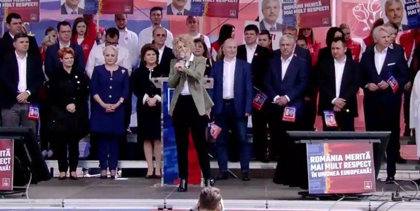 """Carmen Avram, la mitingul PSD de la Galați: """"Am ajuns să trăim într-o țară inundată în ură și minciună. Ei vor ca voi să vă temeți și să vă poată stăpâni"""""""