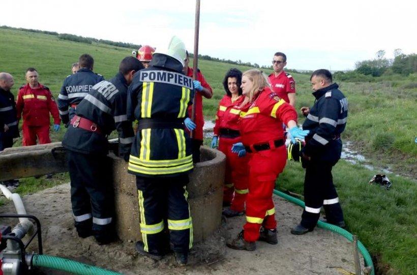 Copilul care a căzut în fântână în Sălaj a fost declarat decedat