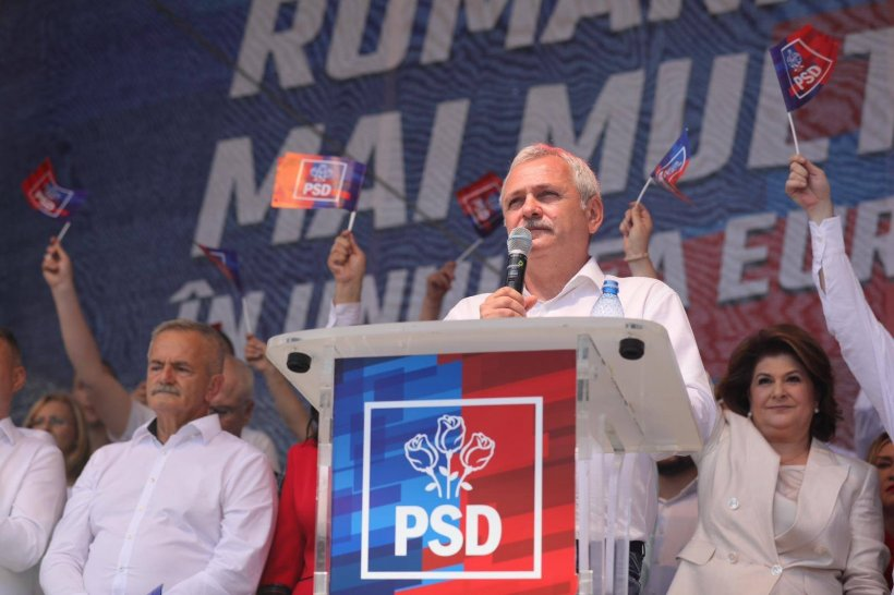 """Liviu Dragnea, la mitingul PSD de la Târgoviște: """"Iohannis, cel mai mare mut al politicii, a început să facă gălăgie. Acest om nu își poate iubi țara"""""""