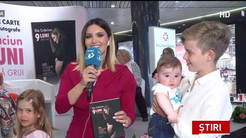 """Ela Crăciun îşi lansează prima sa carte, intitulată """"9 luni fără griji'', adresată viitoarelor mămici"""