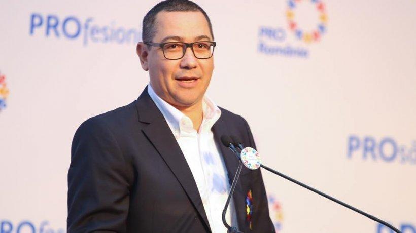 Victor Ponta anunță că Pro România va vota moțiunea de cenzură
