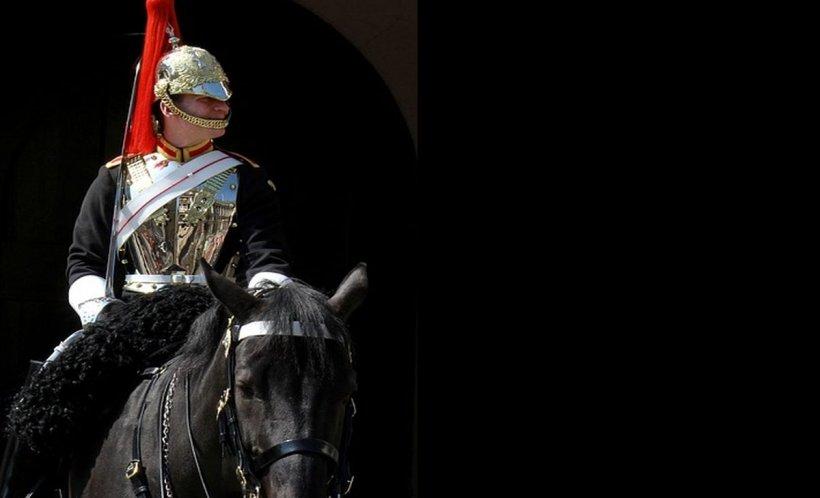 Imagini dramatice la Londra. Un soldat a căzut de pe cal chiar în fața Reginei Elisabeta