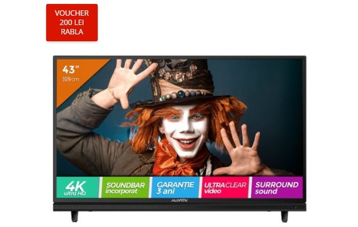 eMAG reduceri. Sansa uriasa: televizor 4K Ultra HD la 750 de lei