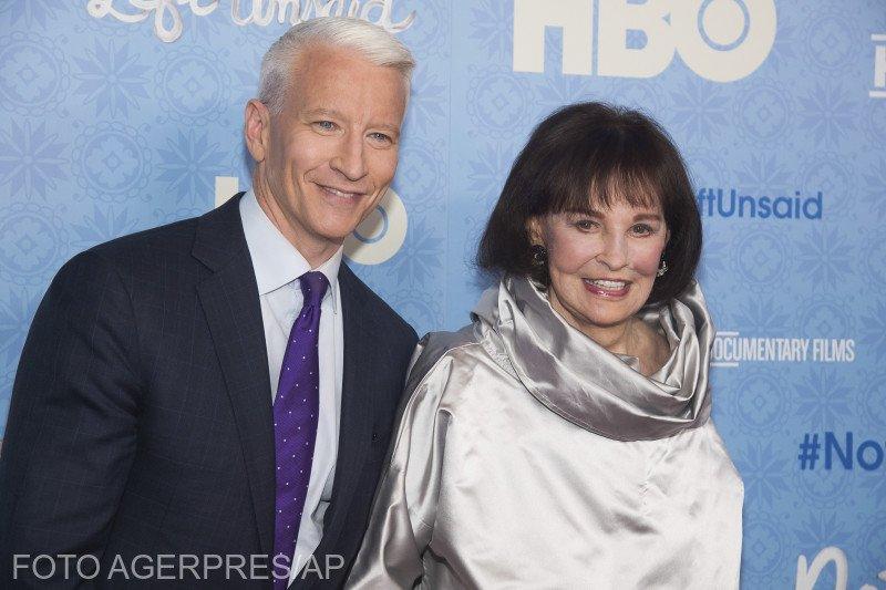"""Realizatorul CNN Anderson Cooper anunță moartea mamei sale, legenda modei Gloria Vanderbilt: """"M-am gândit mereu la ea ca la un vizitator dintr-o altă lume. Mereu am crezut că e treaba mea să o protejez"""""""