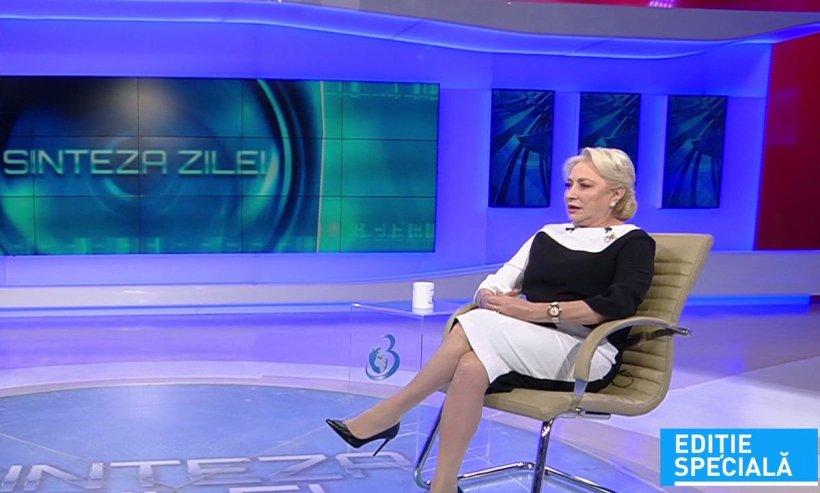 """Premierul Viorica Dăncilă, la """"Sinteza Zilei"""": """"Trebuie să analizăm unde am greșit și să schimbăm modul de abordare"""""""