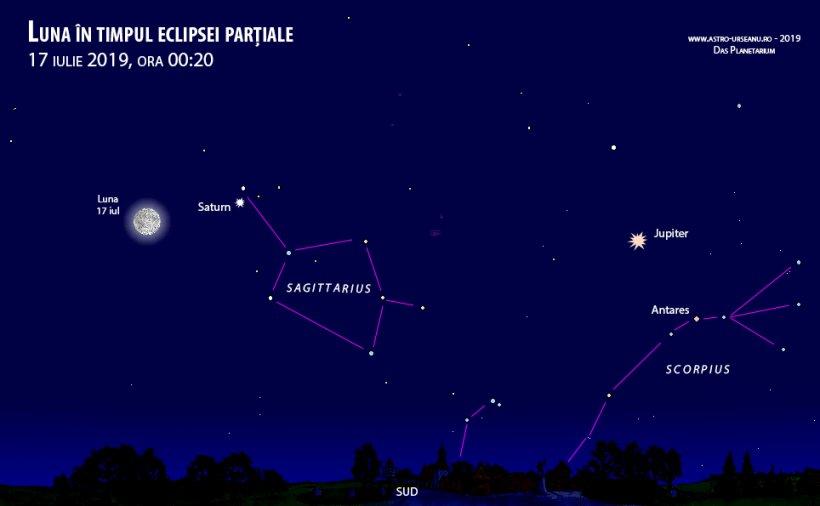 Eclipsa de lună 2019. Momentul maxim e după miezul nopții. Unde puteți să o vedeți la București