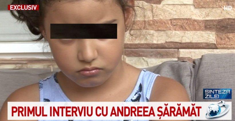 """Primul interviu cu Andreea Șărămăt, fetița de la Baia de Aramă rămasă fără sora ei. Mesaj pentru Sorina: """"Întoarce-te acasă, te rog. Te iubesc"""""""