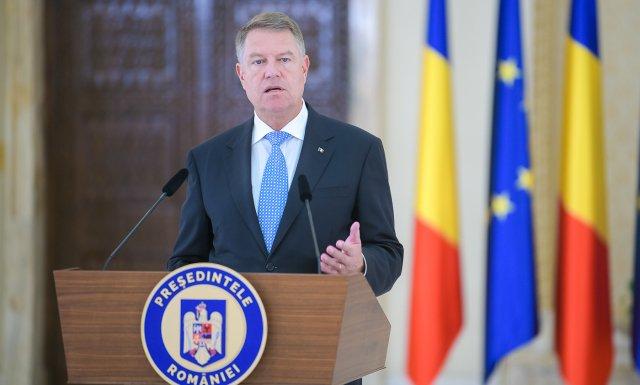 Klaus Iohannis susține o declarație de presă la ora 20.00