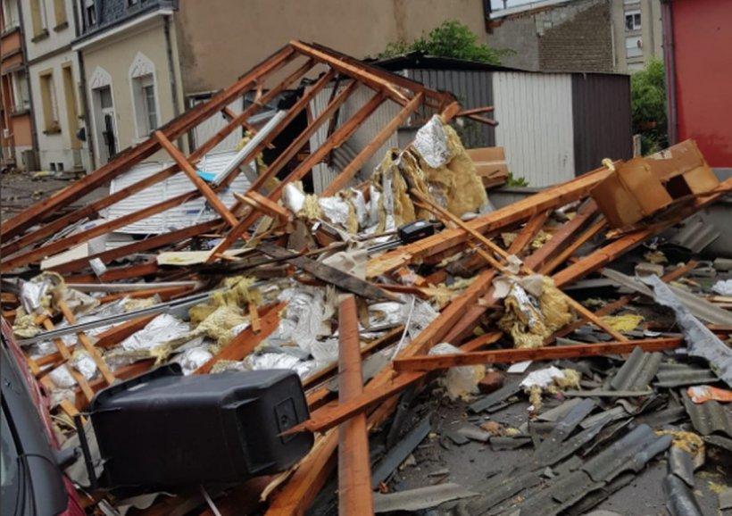 Luxemburg, lovit de o tornadă violentă. Șase persoane au fost rănite și aproape o sută de locuințe au fost distruse
