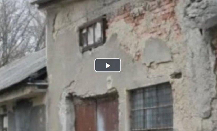Imagini șocante la Spitalul de Psihiatrie din Borşa. Bolnavii sunt internaţi într-o clădire care stă să cadă - VIDEO