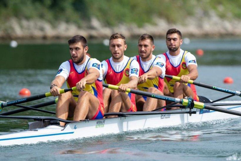 România, medaliată la Mondialele de Canotaj. Echipajul masculin de patru vâsle a câștigat argintul 172