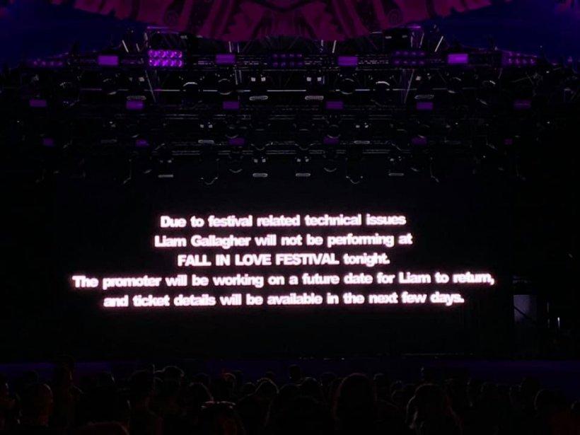 Scandal la Fall In Love Festival duminică seara. Liam Gallagher nu a mai putut concerta din cauza unor probleme tehnice, deși venise în România