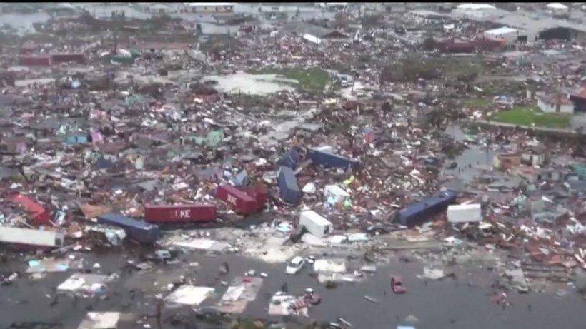 Bilanţul morţilor din Bahamas a ajuns la şapte. Uraganul Dorian rămâne o ameninţare serioasă
