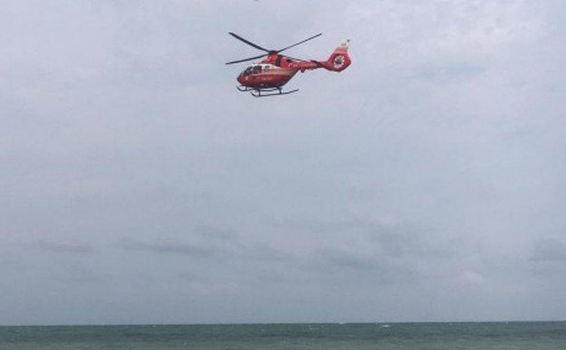 Tânăr în pericol de înec, la Vama Veche. A fost solicitat elicopterul SMURD (VIDEO)