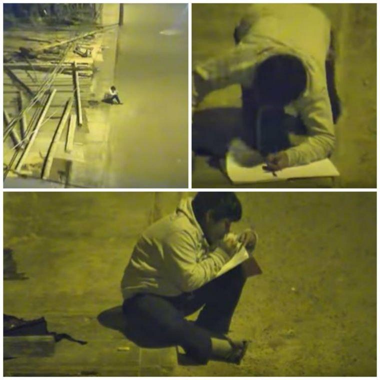 Victor, un băiețel de 11 ani, filmat în timp ce își făcea temele pe stradă. Un milionar a aflat povestea lui și i-a schimbat viața