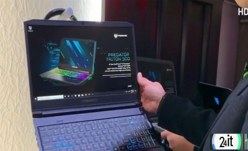 24 IT. Laptop de gaming ușor și subțire