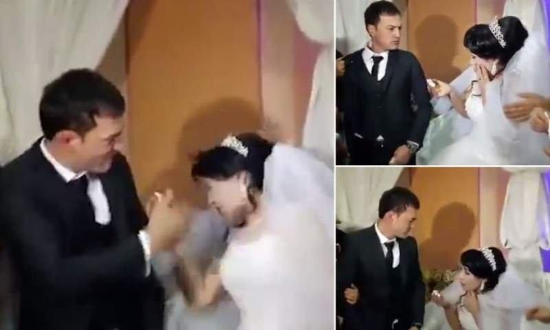 Mireasă lovită cu bestialitate în ziua nunții de către soț - Femeia a căzut pe spate de la lovitura puternică, de față cu toți invitații