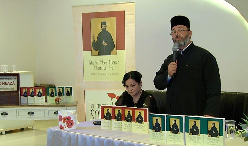 Jurnalista Nicoleta Țintea, la cel de-al doilea volum al cărţii Minunile Sfântului Efrem cel Nou