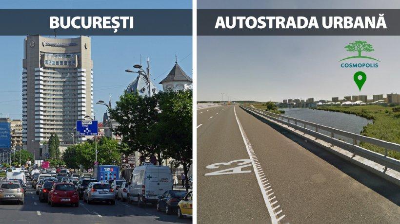 Tu cât ai stat azi în trafic? Cosmopolis are acces la autostrada urbană.  În 20 de minute ajungi în Pipera, Aviatorilor sau Aurel Vlaicu (P)
