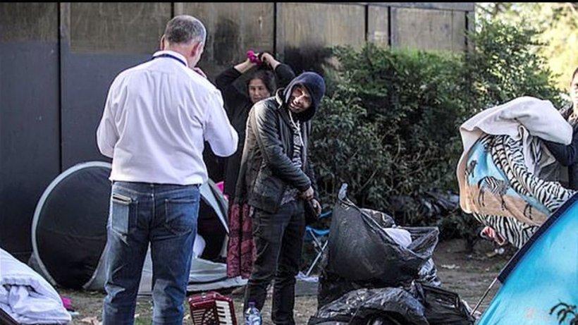 Imagini şocante cu o tabără de romi din Londra 127