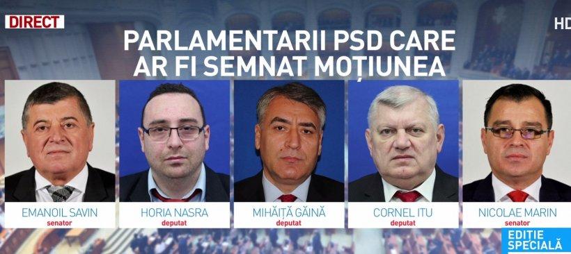 Parlamentarii PSD care ar fi semnat moțiunea de cenzură pentru dărâmarea Guvernului
