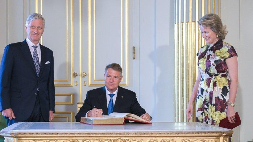 Preşedintele Klaus Iohannis, întâlnire cu regele Philippe, la Palatul Regal din Bruxelles