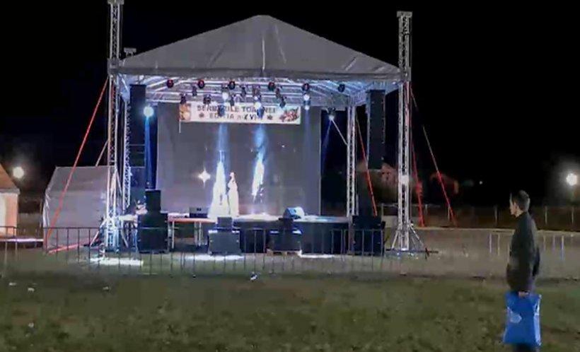 Spectacol de 80.000 de lei la Festivalul Toamnei de la Mizil. În prima zi a asistat un singur spectator - VIDEO