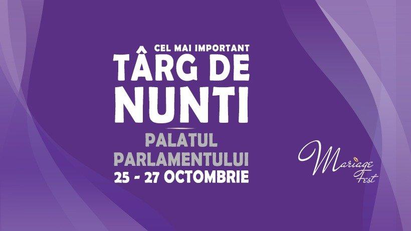 Cel mai important târg de nunți al sezonului 2020 are loc săptămâna aceasta la Palatul Parlamentului: MARIAGE FEST, 25-27 octombrie