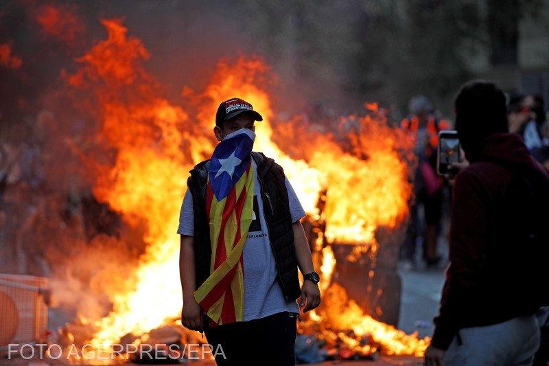 Proteste violente în Barcelona. Haosul s-a instaurat pe străzi - VIDEO