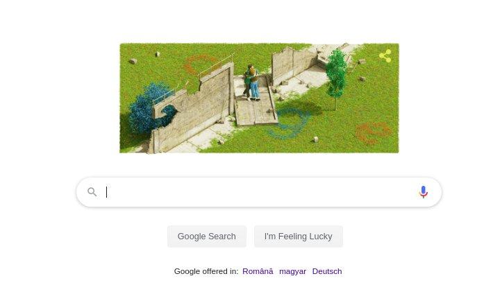 CĂDEREA ZIDULUI BERLINULUI. Google celebrează CĂDEREA ZIDULUI BERLINULUI cu un Google Doodle special