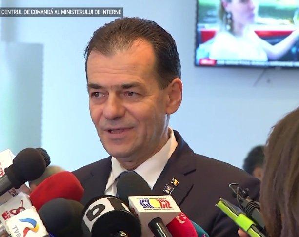 Ludovic Orban, la Centrul de Comandă al MAI ca să numere incidentele de la vot