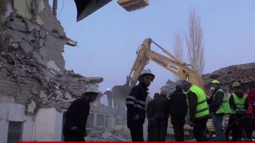 Imagini cutremurătoare! Albania a declarat zi de doliu naţional după seismul devastator - VIDEO
