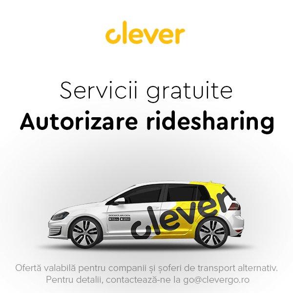 Ești șofer de ridesharing și încă n-ai autorizație? Vino la Clever, te ajutăm noi GRATUIT! (P)