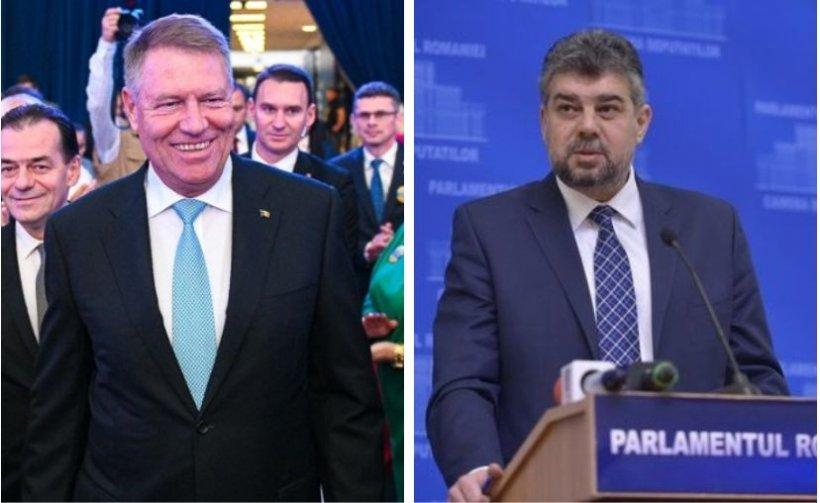Iohannis i-a trimis flori lui Ciolacu, de ziua lui. Cum a primit gestul președintele interimar al PSD