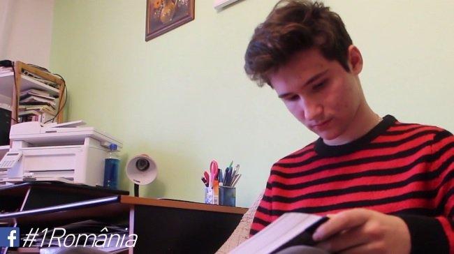 1 România. Mihai Olteanu, un elev de 16 ani din Râmnicu Sărat, finalist în concursul #1 România